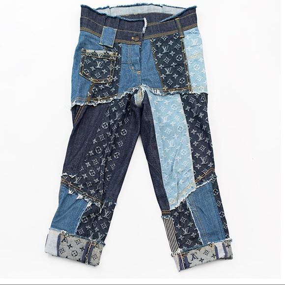 Louis Vuitton Jeans Monogram Patch Denim Fr34 Poshmark